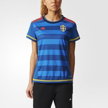 adidas Damen Schweden Auswärtstrikot Replica-Blau Trikot, Dmarin/Yellow/Borang, M