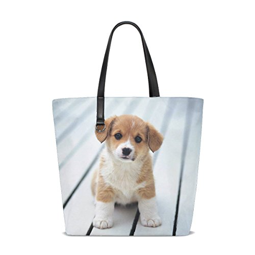 ckandwhite Yellow Pet Small Fluffy Puppy Tote Bag Purse Handbag For Women Girls ()