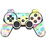 Colorful Design Bright Colors Lines Design PS3 Dual Shock wireless controller Vinyl Decal Sticker Skin by Moonlight Printing