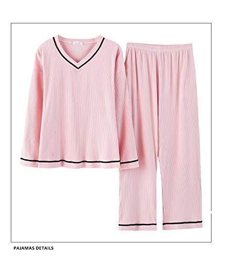 Baujuxing Algodón Servicio Traje Domicilio L Ropa De Larga Manga 100 Pijamas Exterior A Mujeres Suelta M Pantalones Camisón Dormir Otoño Primavera Y Sr7ASxwq