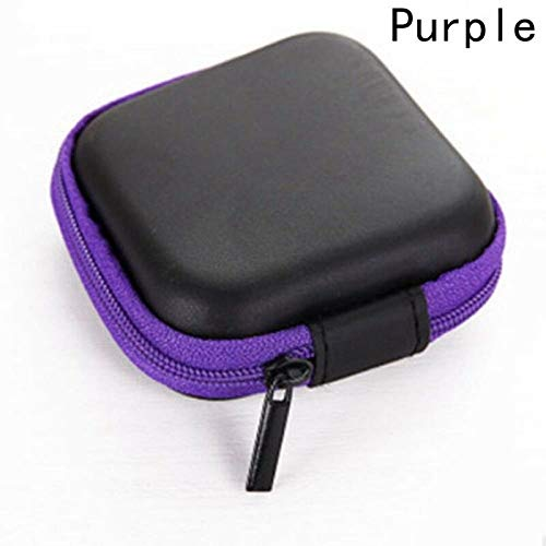 MOPOLIS 5 Colors Portable Storage Package Bag Case Digital USB Cable Earphone Travel (Color - Purple)