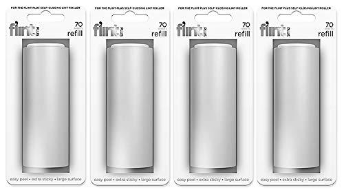 Flint Plus Lint Roller Refills, White, Pack of 4