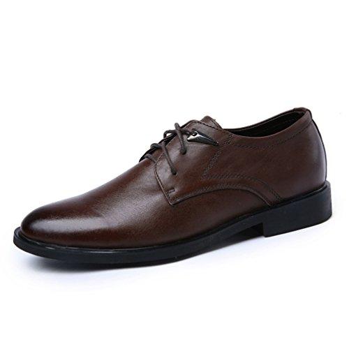 [QIFENGDIANZI]メンズシューズ レースアップ カジュアルシューズ 紳士靴 大きいサイズ ビッグサイズ 滑り止め 快適な履き心地 通気性抜群 かっこいい お洒落 通勤用 黒 ライトブラウン ダークブラウン