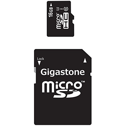 Gigastone 16GB 90MB/s , Micro SD Card with Adapter