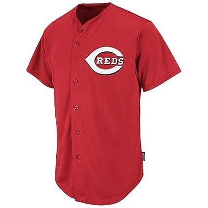 13b1b5b1f Cincinnati Reds Full-Button BLANK BACK Major League Baseball Cool-Base  Replica MLB Jersey
