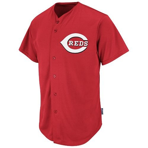 Cincinnati Reds Full-Button BLANK BACK Major League Baseball Cool-Base Replica MLB Jersey