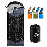 oaskys Camping Sleeping Bag - 3 Season Warm & Cool