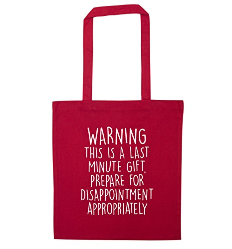 Prepare Flox Bag Creative Gift Last Minute Disappointment Red Tote for FrY4qRF