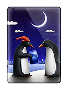 Hot Snap-on Happy Penguins In The Night Hard Cover Case/ Protective Case For Ipad Air Sending Free Screen Protector