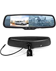 """RED WOLF 4.3"""" Anti-glare Rear View Backup Mirror Monitor W/Dual Channel Fit Ford F150 2004-2014, F250/350 04-2015, Toyota Tacoma 2011-2015, Corolla RAV4 2008-2014, 2010-2014 Chevy Equinox"""
