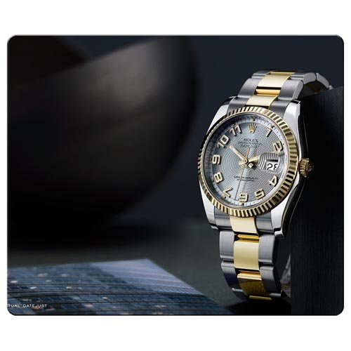 26x21cm / 10x8inch gaming mousepad cloth / rubber latest high technology durability Rolex famous top brand logo