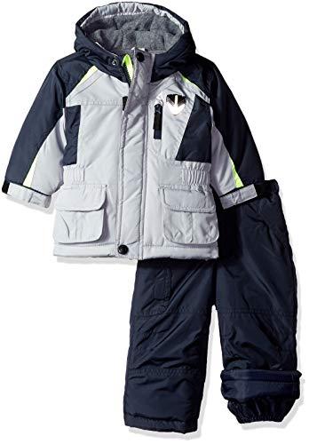 London Fog Baby Boys Ski Jacket & Ski Pant 2-Piece Snowsuit, Real Gray, 18M