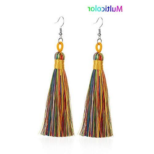 Wausa Fashion Bohemian Jewelry Crystal Tassel Stud Earring Long Drop Dangle Earrings | Model ERRNGS - 10000 |