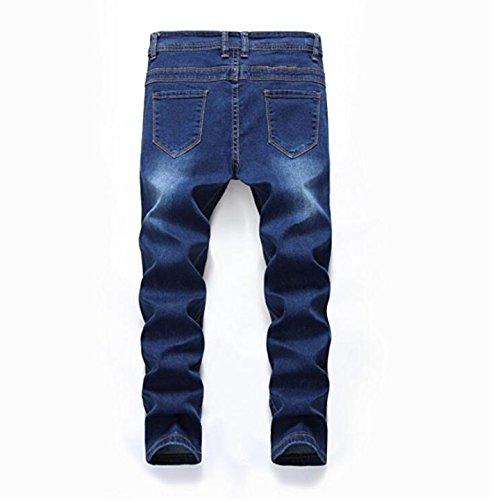 Boy's Fashion Skinny Fit Ripped Distressed Stretch Slim Denim Jeans with Holes 14 by DEITP (Image #2)