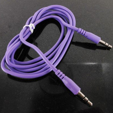 8310 Stereo - Purple 3.5mm STEREO AUX AUDIO CABLE FOR BlackBerry Curve 8300 8310 8320 8330