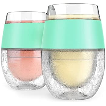 Host Red & White Wine Tumbler Cups Insulated Plastic Glass, Set of 2, 8.5 oz, Mint, 2