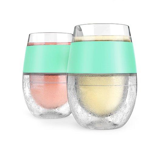 Host Wine Freeze Cooling Cups, Mint (Set of 2) ()