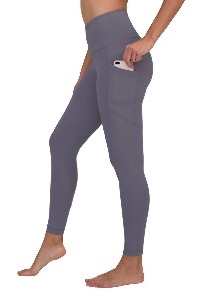 90 Degree By Reflex Women's Power Flex Yoga Pants - Purple Verbena - Small by 90 Degree By Reflex