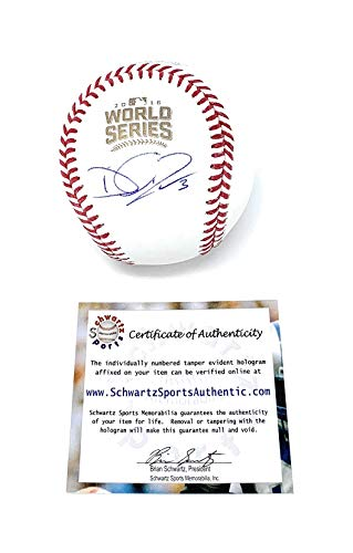 (David Ross Chicago Cubs Signed Autograph Official World Series MLB Baseball Schwartz Sports Authentic Certified)