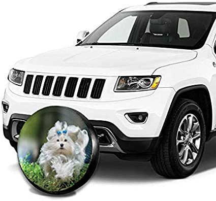 Kejbr Couverture de Pneu,Housse de Roue de Secours Life is Better at The Lake Wheel Cover with PVC Leather Waterproof Dust-Proof Fit for Jeep Trailer RV SUV Camper and Vehicle