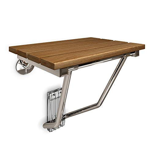 - DreamLine Natural Teak Folding Shower Seat. ADA Compliant Shower Seat, SHST-02-TN