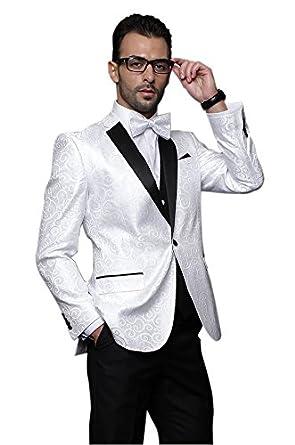 MYS - Traje - para hombre Blanco blanco 42: Amazon.es: Ropa ...