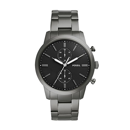 Fossil Men's '44mm Townsman' Quartz Stainless Steel Casual Watch, Color:Grey (Model: FS5349) by Fossil