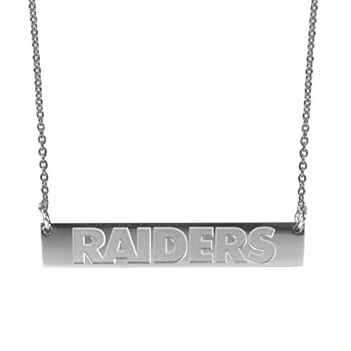 NFL Oakland Raiders Womens Bar Necklace, 20