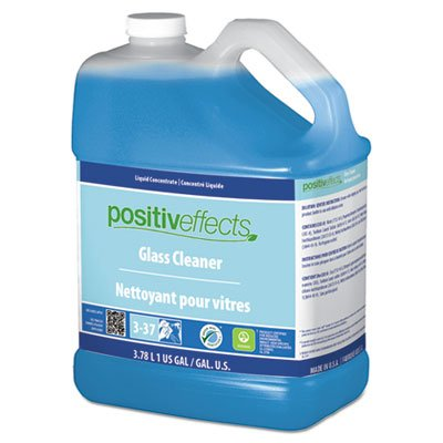 Glass Cleaner, Unscented, 1 Gal Bottle, 4/carton by PositivEff