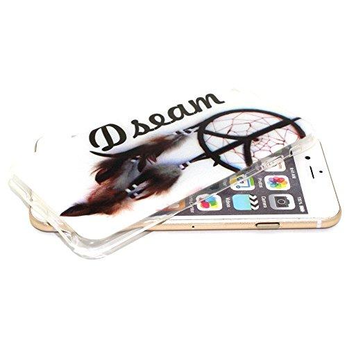 Apple iPhone 6/6S Étui Housse Case Gel/TPU Attrape-rêves Multicolore decui Multicolore/TPU Coque en gel