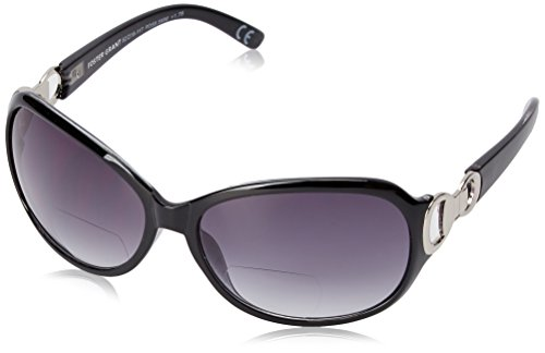 Foster Grant Women's Latte 1017551-250.COM Oval Reading Glasses, black, - For Women Prescription Sunglasses