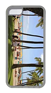 case carry covers hawaii waikiki beach TPU Transparent Case for iphone 5C