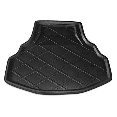 uxcell Black Rear Trunk Tray Boot Liner Cargo Floor Mat Cover for Honda Accord 8 08-12 (Trunk Accord Honda Liner)