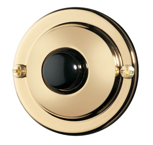 NuTone PB67PB Wired Unlighted Door Chime Push Button, Polished Brass