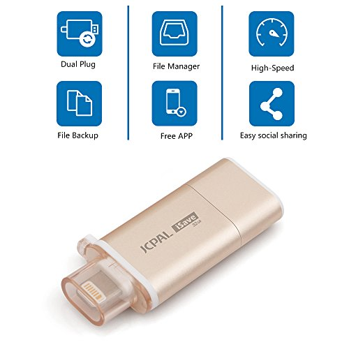 JCPal-iSave-iPhone-Flash-Dirve-32GB-USB-30-Adapter-with-Lightning-Connector-for-iPadiOSComputers