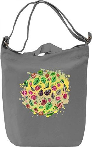Circle of Fruit Borsa Giornaliera Canvas Canvas Day Bag| 100% Premium Cotton Canvas| DTG Printing|