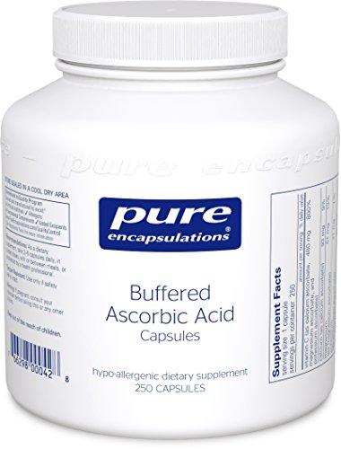 Pure Encapsulations - Buffered Ascorbic Acid - Hypoallergenic Vitamin C Supplement for Sensitive Individuals - 250 Capsules