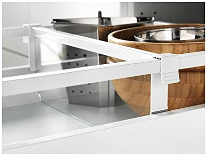 Ikea MAXIMERA – Separador para cajón Medio, Blanco, Transparente – 40 cm: Amazon.es: Hogar