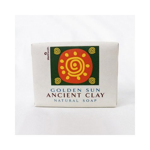 Bulk Saver Pack 3x10.5 OZ : Zion Health Clay Bar Soap - Golden Sun by Zion Health