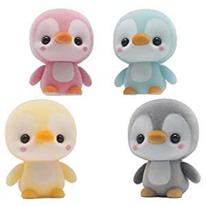 Coolayoung Mini Penguin with Plush Surface Toys, Desk Decor for Office Home Room Car Wedding Birthday Christmas Children's Day