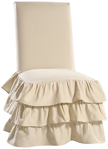 Slipcover Cotton Dining Chair Solid (Classic Slipcovers CD3TRDINCHRSS Cotton Duck 3 Tier Dining Chair, Khaki)