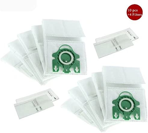 Kit de filtros de bolsa de polvo para aspiradora Miele tipo U bolsas de vacío de repuesto para Miele s7000- S7999 serie filtro bolsa vertical vacío parte 10123230 5pcs + 2 Filtros:
