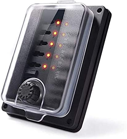 Horifen 12v Sicherungshalter Wasserdicht 10 Fach Sicherungskasten Mit Led Anzeige Und Abdeckung Für Auto Schiff Auto