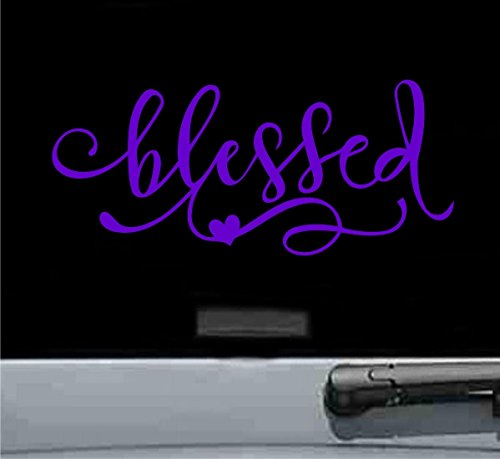 - JS Artworks Blessed Heart Vinyl Decal Sticker Purple