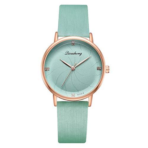 LUXISDE Watch Women Licaihong Simple Stylish Sea Thread Flat Dial with Quartz Ladies Quartz Watch MintGreen