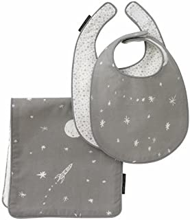 DwellStudio Bib and Burp Set, Galaxy Dusk