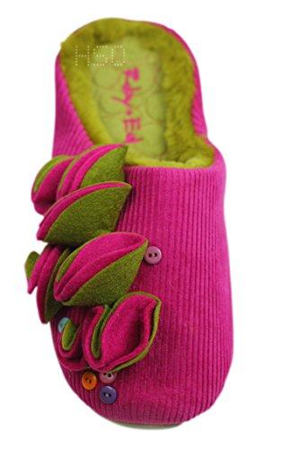 Store Damen Slider 3 Slip Boot Grau 8 Hausschuhe Weihnachtsgeschenk Geschenk Fell On Hausschuhe Damen UK Ballerina Ex Grün Rosa Schnur Rosa Mädchen SBnqfEdwS4