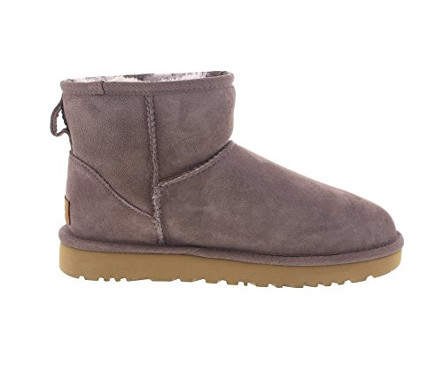 UGG Australia Mini Classic Leather, Zapatillas Altas para Mujer Storm Grey