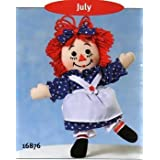 """Raggedy Ann - July By Applause 8"""" #A16876"""