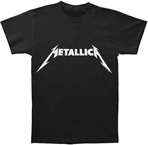 Metallica Black and White Logo Adult T-shirt